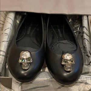 Alexander McQueen skull flats